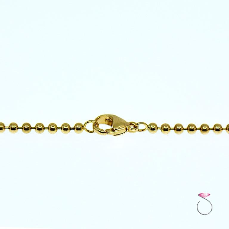 Tiffany & Co. Cupid Heart & Arrow 18k Yellow Gold Pendant & Bead Chain Necklace 3