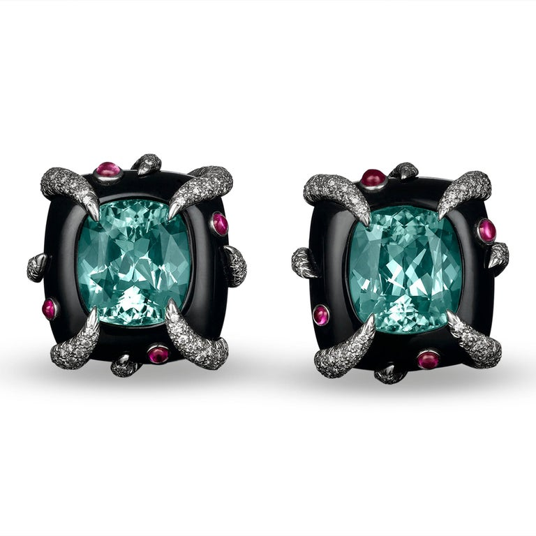 Retro Tiffany & Co. Cuprian Tourmaline Earrings For Sale