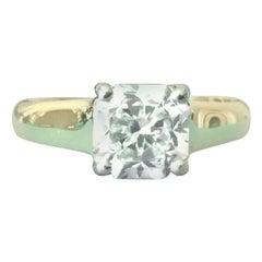 Tiffany & Co. Cushion Cut 18 Karat Yellow Gold and Diamond Ring 1.72 Carat H VS1