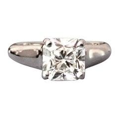 Tiffany & Co. Cushion Cut Platinum and Diamond Engagement Ring 1.71 Carat