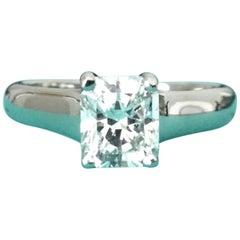 Tiffany & Co. Cushion Cut Platinum and Diamond Engagement Ring .83 Carat