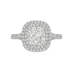 81d326210 Tiffany and Co Soleste Platinum and Diamond 1.28 Carat H Internal ...
