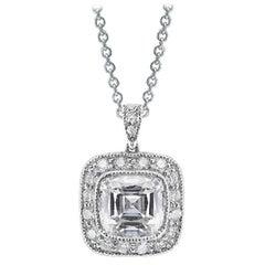 Tiffany & Co. Cushion Modified Brilliant Cut Diamond Pendant