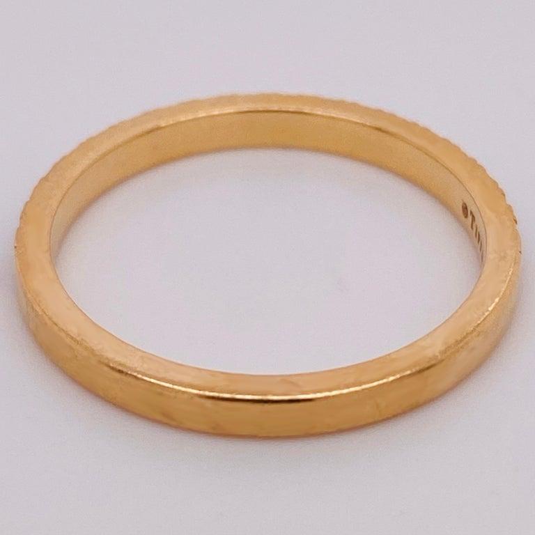 Tiffany & Co. Diamond 18 Karat Gold Band, Rose Gold Tiffany & Co. Ring .30 Carat For Sale 2