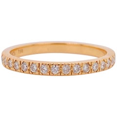 Tiffany & Co. Diamond 18 Karat Gold Band, Rose Gold Tiffany & Co. Ring .30 Carat