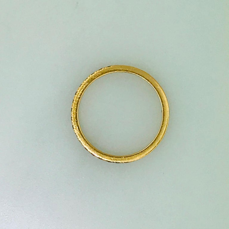 Tiffany & Co. Diamond 18 Karat Rose Gold Band, Rose Gold Tiffany & Co. Ring, .30 For Sale 8