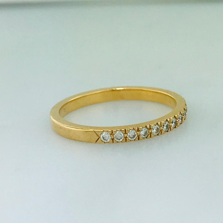Tiffany & Co. Diamond 18 Karat Rose Gold Band, Rose Gold Tiffany & Co. Ring, .30 For Sale 3