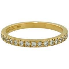 Tiffany & Co. Diamond 18 Karat Rose Gold Band, Rose Gold Tiffany & Co. Ring, .30