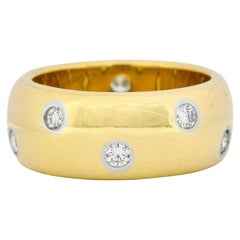 Tiffany & Co. Diamond 18 Karat Yellow Gold Etoile Band Ring