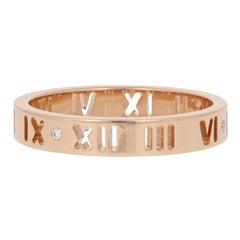 Tiffany & Co. Diamond-Accented Atlas Pierced Ring, 18 Karat Rose Gold Band