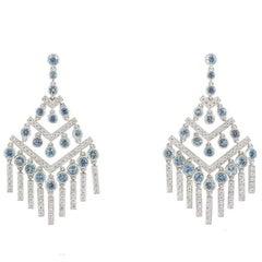 8bb648f32 Tiffany & Co. Diamond and Aquamarine Jazz Chevron Earrings
