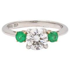Tiffany & Co. Diamond and Emerald Ring