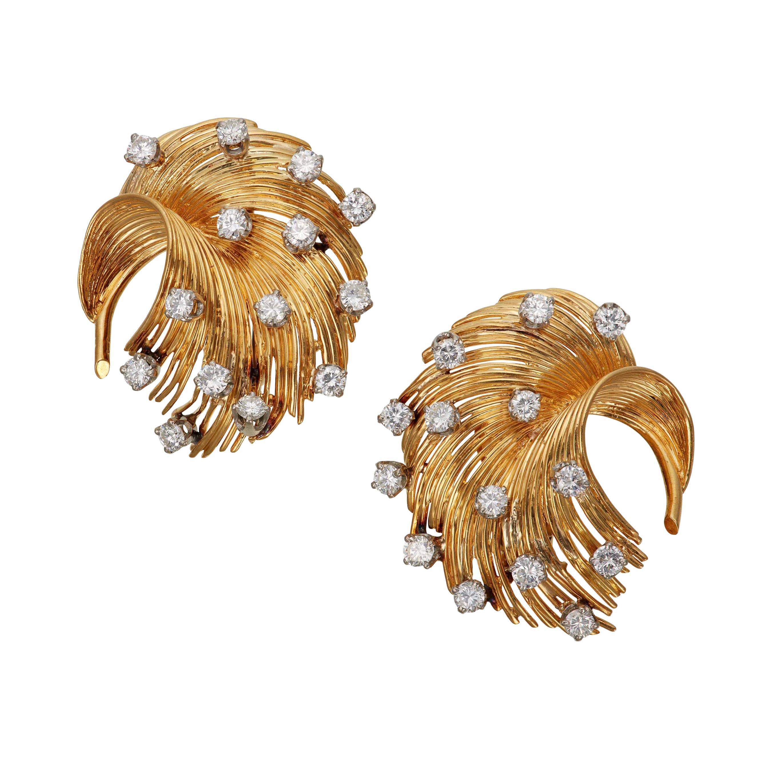 Tiffany & Co. Diamond and Gold Earrings