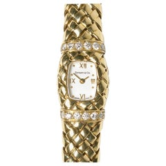 "Tiffany & Co. Diamond and Gold ""Vannerie"" Wristwatch"