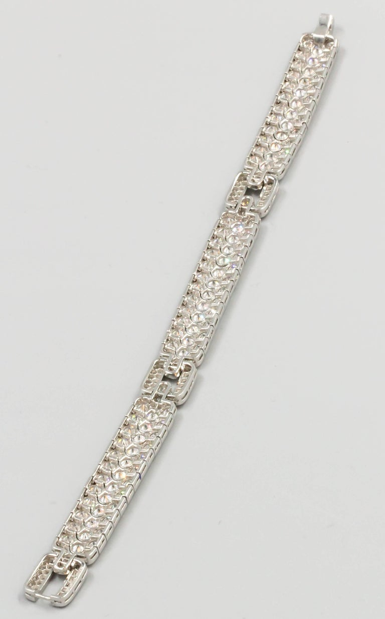 Tiffany & Co. Diamond and Platinum Bracelet In Excellent Condition For Sale In New York, NY
