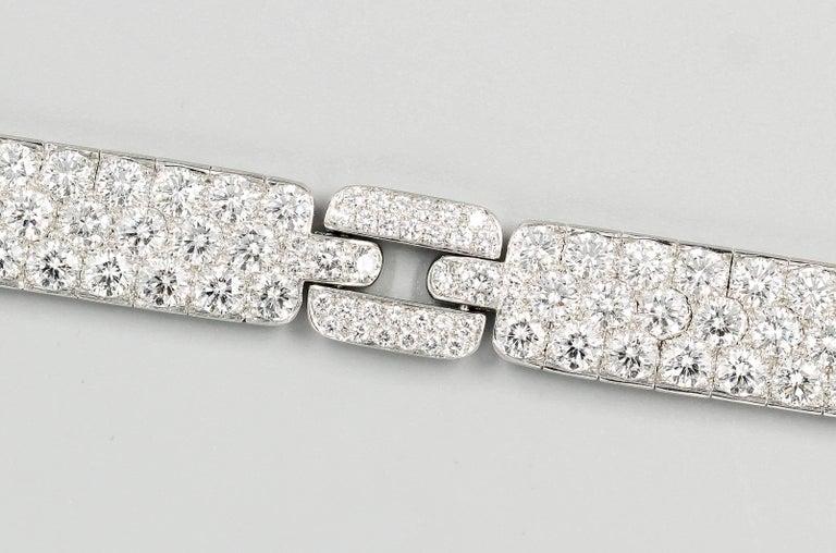 Women's Tiffany & Co. Diamond and Platinum Bracelet For Sale