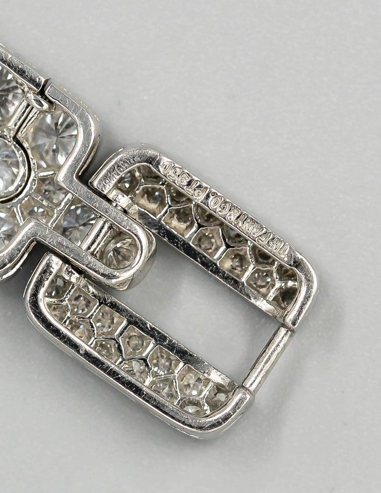 Tiffany & Co. Diamond and Platinum Bracelet For Sale 1