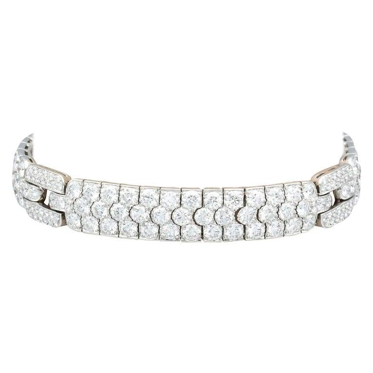 Tiffany & Co. Diamond and Platinum Bracelet For Sale