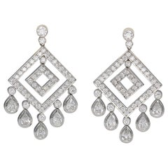 Tiffany & Co. Diamond and Platinum Chandelier Earrings