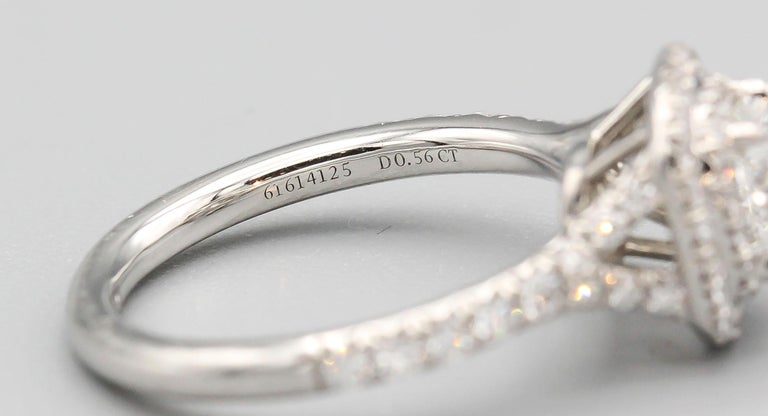 Tiffany & Co. Diamond and Platinum Engagement Ring For Sale 2