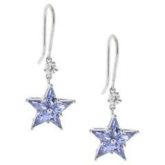Tiffany & Co. Diamond and Sapphire Star Earrings