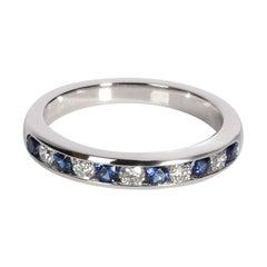 Tiffany & Co. Diamond and Sapphire Wedding Band in Platinum 0.17 CTW