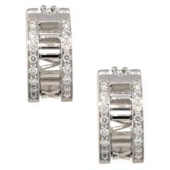 Tiffany & Co. Diamond Atlas Earrings 18 Karat in Stock