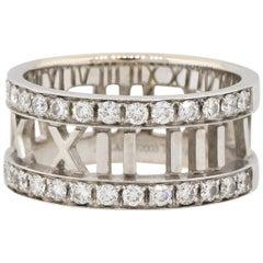 Tiffany & Co. Diamond Atlas Ring 18 Karat in Stock