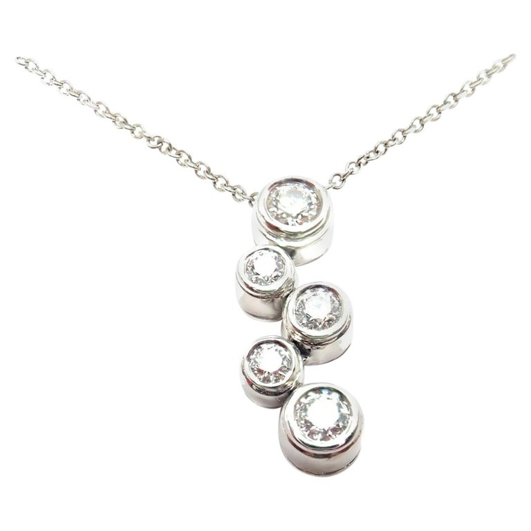 7f5592433 Tiffany and Co. Diamond Bubbles Platinum Pendant Necklace For Sale ...
