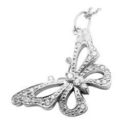 Tiffany & Co. Diamond Butterfly Platinum Pendant Necklace