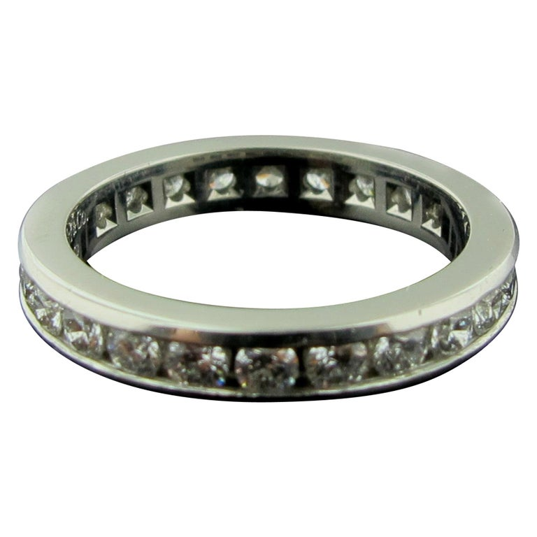 Tiffany & Co. Diamond Channel Set Band in Platinum For Sale