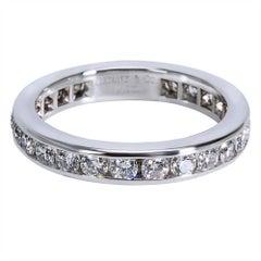 Tiffany & Co. Diamond Channel Set Diamond Wedding Band in Platinum 0.75 Carat