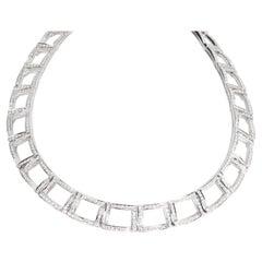 Tiffany & Co. Diamond Choker Necklace in Platinum 6.13 Carat