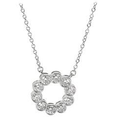 Tiffany & Co. Diamond Circle Necklace in Platinum '0.80 Carat'
