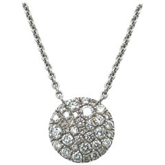 Tiffany & Co. Diamond Circle Pendant in 18 Karat White Gold