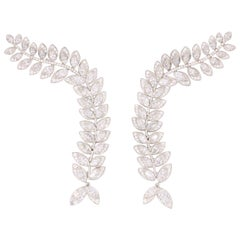 Tiffany & Co. Diamond Drop Earring Climbers 13.94 Carat Platinum E-F VVS-VS1