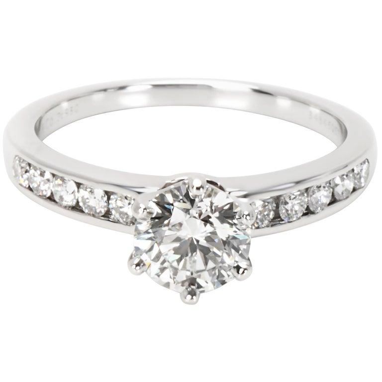 Tiffany And Co Diamond Engagement Ring 1 06 Carat H Vvs1