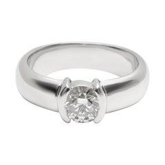 Tiffany & Co. Diamond Engagement Ring in Platinum '0.58 Carat G VVS1'