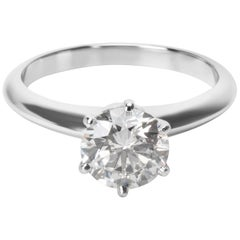 Tiffany & Co. Diamond Engagement Ring in Platinum 1.25 Carat G VVS2