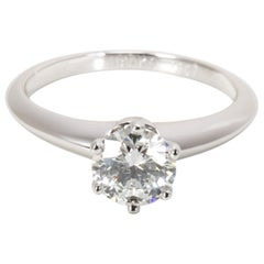 Tiffany & Co. Diamond Engagement Ring in Platinum E VVS1 0.78 Carat