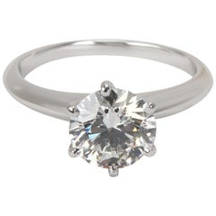 Tiffany & Co. Diamond Engagement Ring in Platinum E VVS1 1.69 Carat