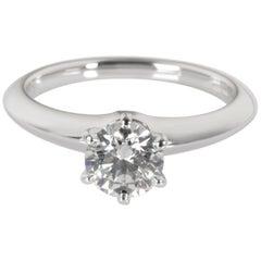 Tiffany & Co. Diamond Engagement Ring in Platinum E/VVS2 0.71 Carat
