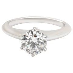 Tiffany & Co. Diamond Engagement Ring in Platinum E VVS2 1.08 Carat