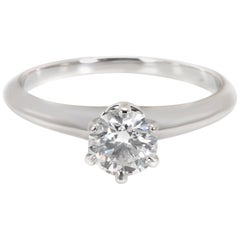 Tiffany & Co. Diamond Engagement Ring in Platinum F VS1 0.62 Carat