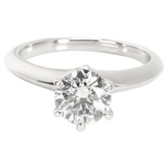 Tiffany & Co. Diamond Engagement Ring in Platinum F VS1 0.91 Carat