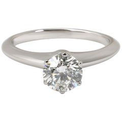 Tiffany & Co. Diamond Engagement Ring in Platinum H VS2 1.01 Carat