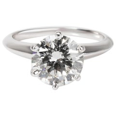 Tiffany & Co. Diamond Engagement Ring in Platinum I VS1 1.75 Carat