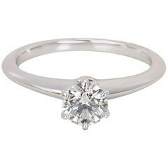Tiffany & Co. Diamond Engagement Ring in Platinum I VVS1 0.52 Carat