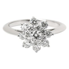 Tiffany & Co. Diamond Flower Ring in Platinum 0.60 Carat'