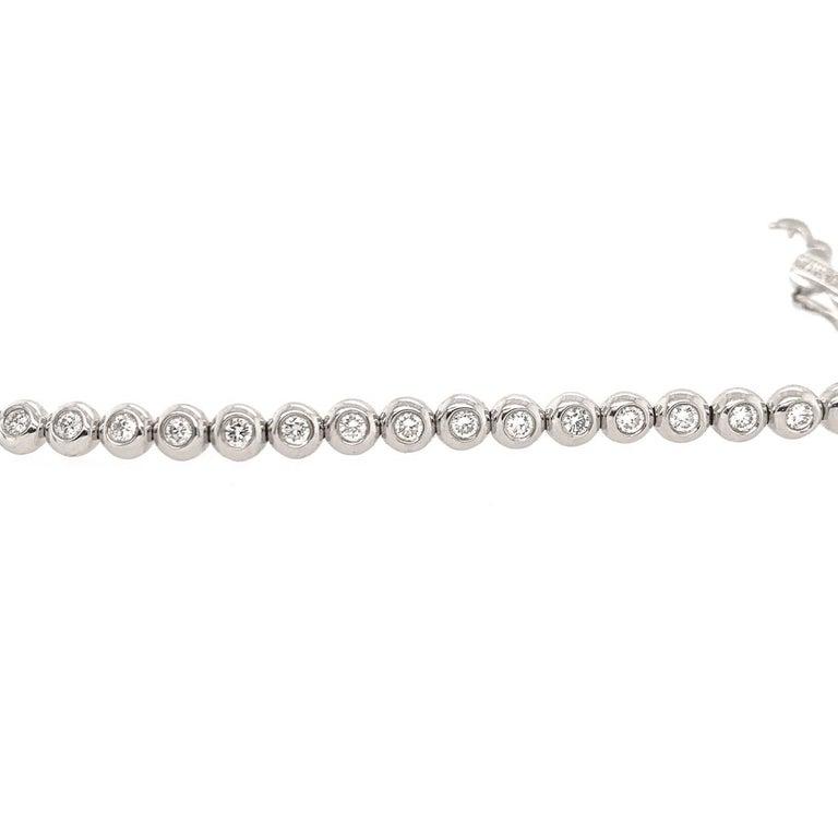Brilliant Cut Tiffany & Co. Diamond White Gold Riviere Bracelet For Sale